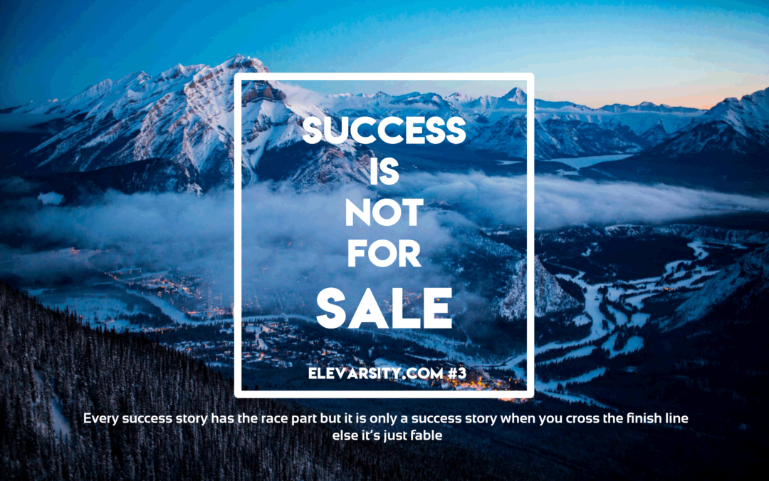 Success is Not for Sale
