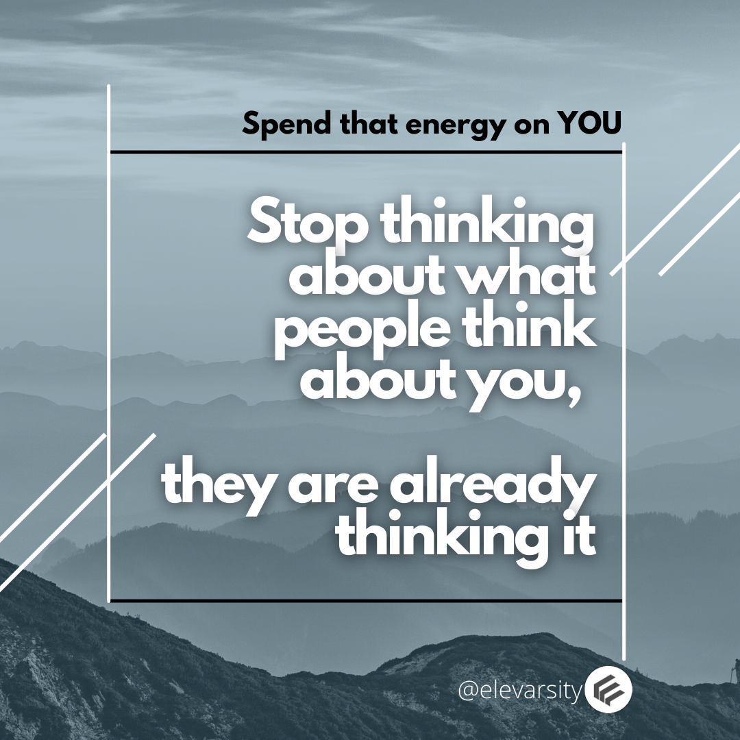 Spend energy on you